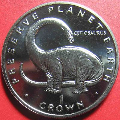 1993 GIBRALTAR 1 CROWN CETIOSAURUS DINOSAUR DINO PRESERVE PLANET EARTH 38.5mm