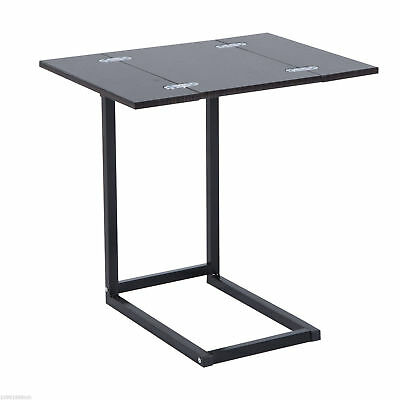 HOMCOM Compact Laptop Notebook Table Stand Folding Expanding Tabletop Desk Dorm