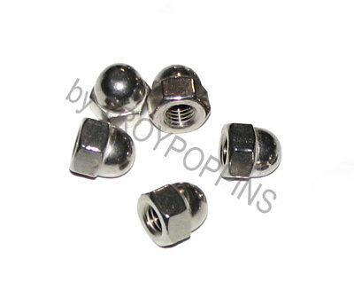 """5-Ss 1/4""""-28 Acorn Hex Cap Nuts Fine Thread 18-8 Stainless Steel Hardware Parts"""