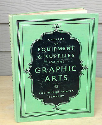 1935 Inland Printer Catalog of Printing Supplies & Presses  Type Specimen NF