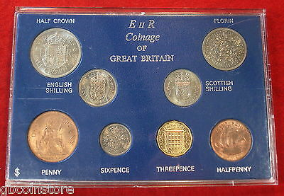 1962 VINTAGE 8 COIN SET 55th BIRTHDAY,ANNIVERSARY GIFT COINS IN MINT CONDITION