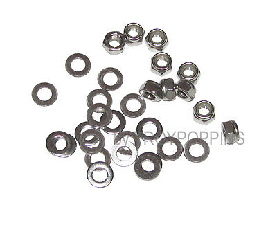 Ss 10-M5-0.8 Hex Lock Nuts Nylon Metric & 20-M5 Flat Washers Stainless Steel 5Mm