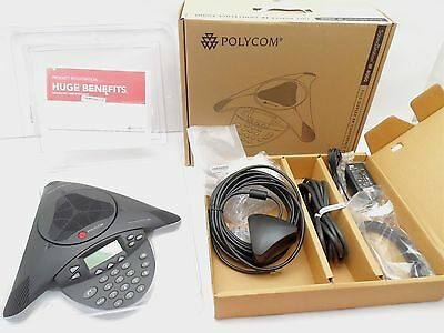 Polycom SoundStation IP 4000 VoIP Conference Phone w/ Supplied Accessories NEW
