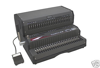 "Akiles Combmac-EX24 Comb Binding Machine & Electric Hole Punch 14"" [New]"