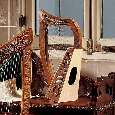 Medieval 10th Century Replica Celtic Carved Knot Rosewood 12 String Harp