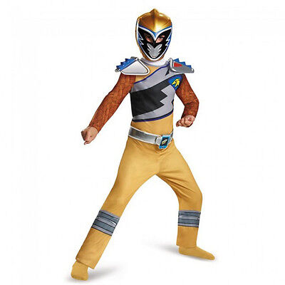 Power Rangers Gold Ranger Dino Charge Classic Boys Costume | Disguise 82763