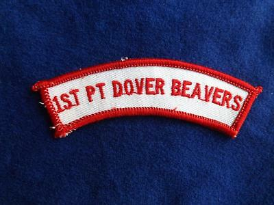 BOY SCOUTS CANADA 1st PORT DOVER BEAVERS PATCH COLLECTOR BADGE
