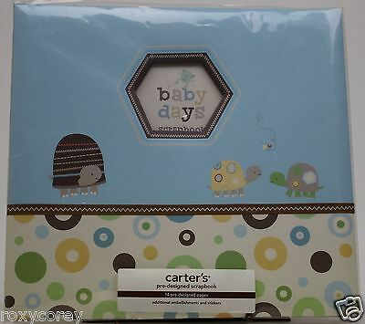 Carter's 12X12 Baby Days Turtles Instant Scrapbook Embellish Pages Stickers NWT
