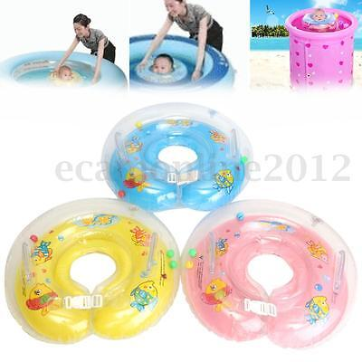 Inflatable New-Born Baby Infant Swimming Neck Float Ring Safety Bath Swim Pool