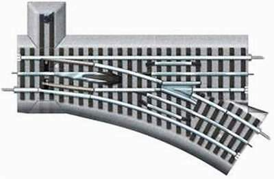 """LIONEL 6-12018 FasTrack 36"""" MANUAL SWITCH - RIGHT HAND O GAUGE"""
