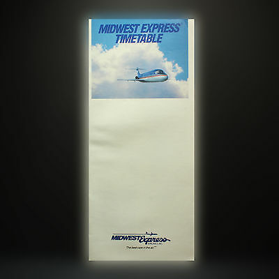 Midwest Express Airlines - Fluglinie Flugplan - March 1, 1990