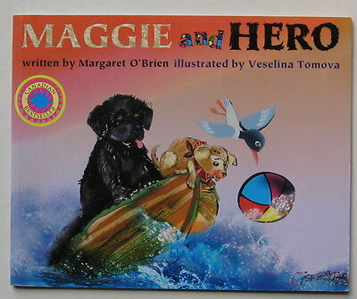 Newfoundland Dog Illustrated Story  Maggie And Hero