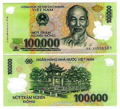 Vietnam 100,000 Dong Uncirculated Note