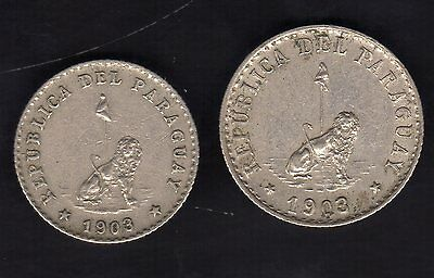 Paraguay 10 And 20 Centavos 1903, Copper Nickel Nice Condition