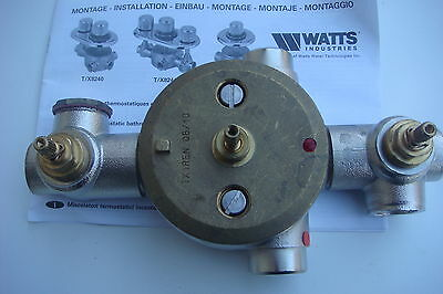 Mitigeur + 2 Robinets,F 3/4,Thermostatique Collectif ULTRAMIX Eurotherm,T/X8244