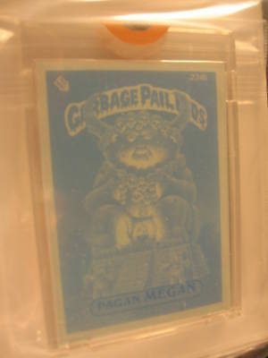 1986 Topps Garbage Pail Kids Series 6 Blue Proof #224B