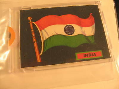 1970 Topps Flags of the World Sticker Card India