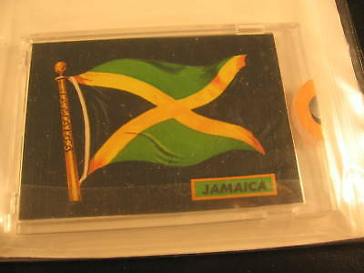 1970 Topps Flags of the World Sticker Card Jamaica