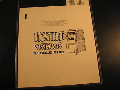 1966 Topps Insult Postcard Wax Proof Wrapper