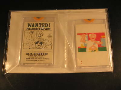 1974 Topps Wanted Stickers (2) Proof Barber