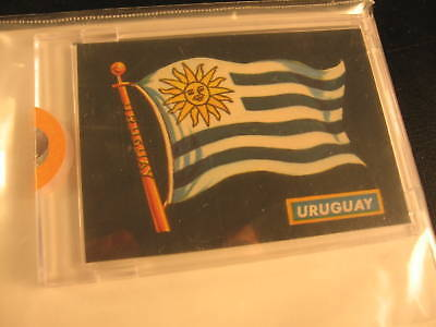 1970 Topps Flags of the World Sticker Card Uruguay