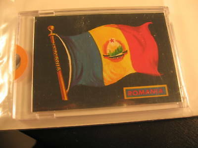 1970 Topps Flags of the World Sticker Card Romania