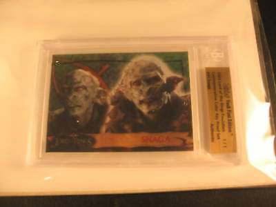 2006 Topps Vault Lord of the Rings Proof #41 BGS 1/1