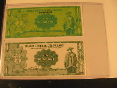 1970 Topps Flags of World Phoney Money Proofs Paragu