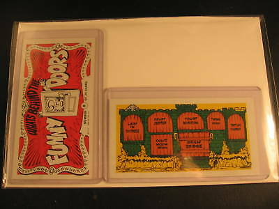 1970 Topps Funny Doors (2) Proof Cards #8