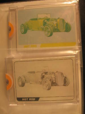 1968 Topps Hot Rods PROOF (2) Card Set Rodster