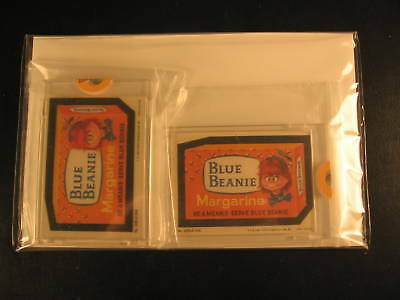 1980 Topps Wacky Packages (2) Proof Set 208 Blue Beanie