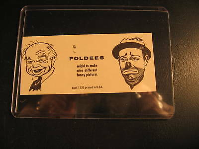 1949 Topps Funny Foldees Proof Card #222