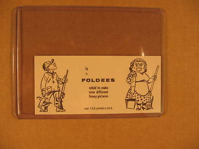 1949 Topps Funny Foldees Proof Card #124