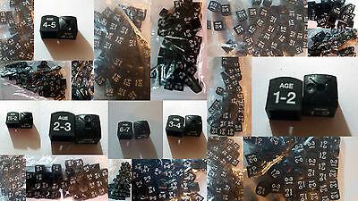 50 Toddlers Kids Baby Clothes Tops Dress MINI BLACK WHITE Size Cubes x 1 Pack