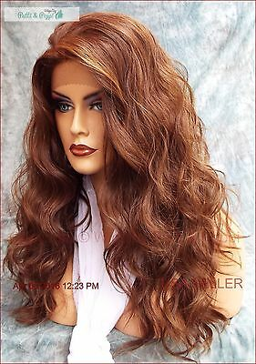 Lace Front Hand Tied Heat Friendly Exquisite Sensual P4.27.30 Wig Usa Seller 473
