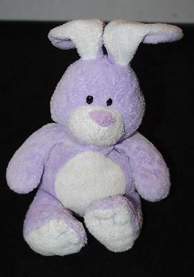 TY Pluffies Twitches Bunny Rabbit Purple White Soft Plush Baby Lovey Toy TYLux