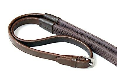 Gee Tac Rug Bridle Horse Quality Leather Rubber Grip Reins All Sizes Full Brown