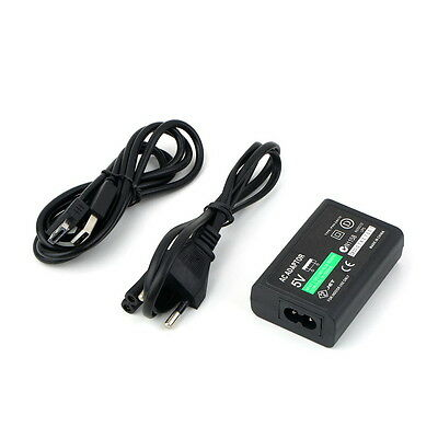 For Sony PS Vita PSV AC Power Adapter Supply Convert Charger + USB Data Cable G#