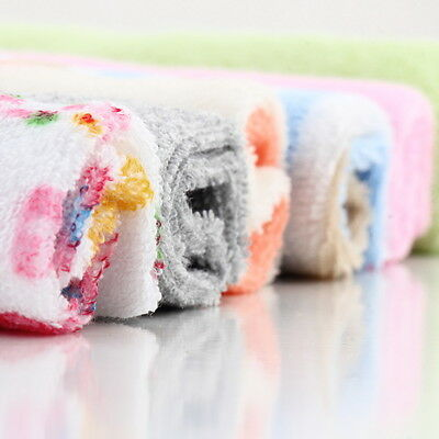8Pcs Baby Infant Newborn Bath Towel Washcloth Bathing Feeding Wipe Cloth Soft G#
