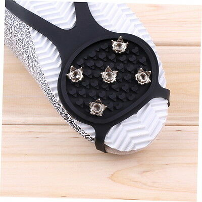 Ice Snow Ghat Non-Slip Spikes Shoes Boots Grippers Crampon Walk Cleats New G#