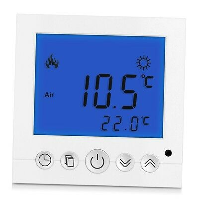 Heating Thermostat Temperature Controller Blue LCD Display Programmable G#
