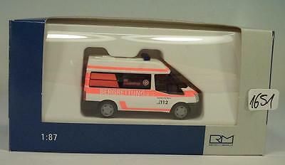 RIETZE Modell 1:87//H0 PKW Ford Transit 2000 Bus neutral rot #11080 NEU//OVP