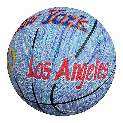 ANRO Abstract Size 7 Basketball Cities Light Finish Nylon Wound Pimple Surface