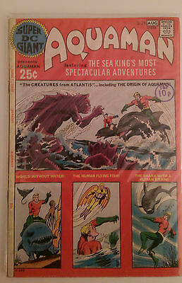 Super DC Giant #26 REPRINTS SHOWCASE #40 AQUAMANS ORIGIN DC 1st Print VG