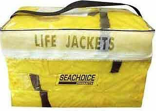 SeaChoice Life Vest, Yellow, with Carry Bag, 4-Pack - 86010