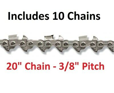 "10 Pack 3/8 .050 72DL Oregon Full Chisel 440 460 20"" Chainsaw Chain 33RS1"