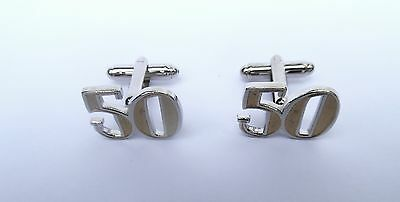 "50th BIRTHDAY GIFT-""Gold Front Style"" DIECAST METAL CUFF LINKS in a GIFT BOX-NEW"