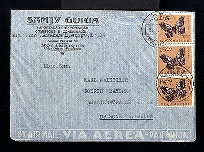 9413-MOÇAMBIQUE-AIRMAIL COVER LOUREÇO MARQUES to FUERTH (germany)1955.Portugal c