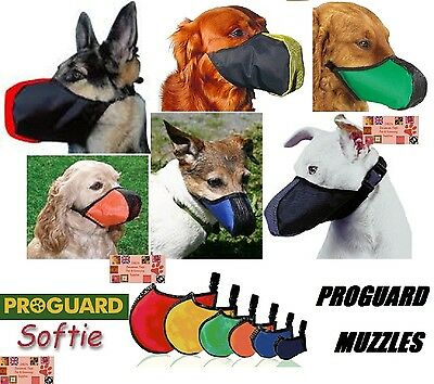 ProGuard SOFTIE DOG MUZZLE Mesh Quick-Fit Adjustable Safer Comfortable*U PICK