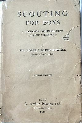 Boy Scout Book 1916's Scouting For Boys By Robert Baden Powell